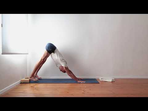How to activate the thighs and extend the spine in Adho Mukha Svanasana (Downward Facing Dog Pose)